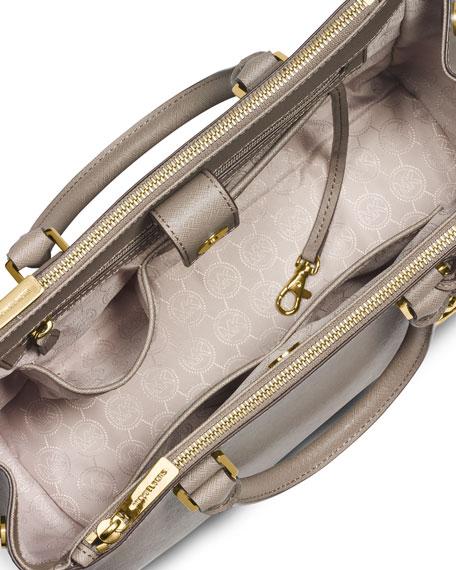 Sutton Medium Satchel Bag, Dark Dune