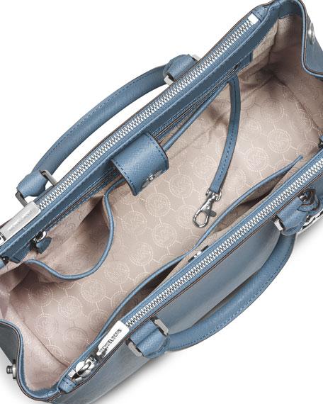 Sutton Medium Satchel Bag, Sky