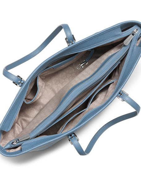 Jet Set Travel Medium Saffiano Tote Bag, Sky