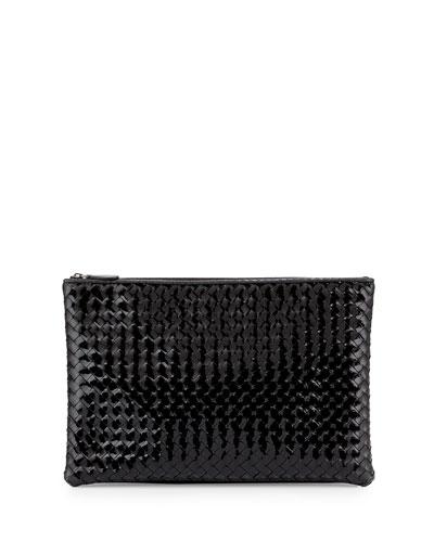 Large Zip-Top Cosmetics Bag, Nero Black