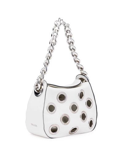 prada daino chain hobo bag with grommets