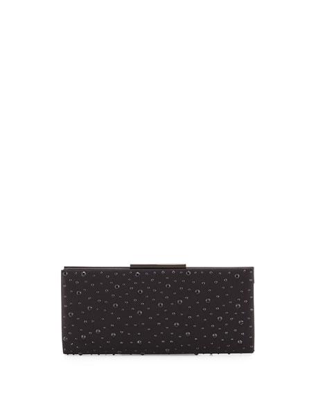 Badgley Mischka Beth Studded Evening Clutch Bag, Black