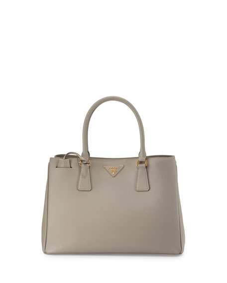 Prada Saffiano Small Gardener's Tote Bag, Light Gray
