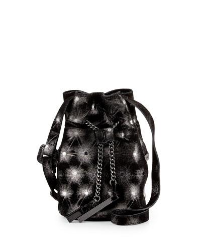 06feb0f28b Halston Heritage Metallic-Leather Mini Bucket Bag