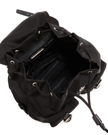 Vela Mini Crossbody Backpack Bag, Black (Nero)