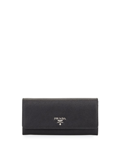 Monogram Leather Large Flap Continental Wallet, White