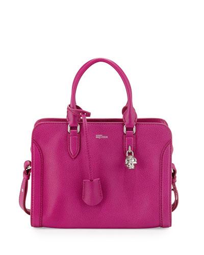 Small Padlock Satchel Bag, Magenta