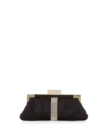 Aurore Embellished Evening Clutch Bag, Black
