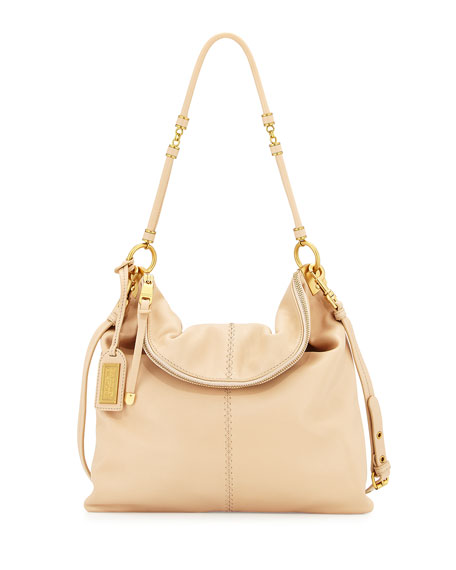 Badgley Mischka Martina Leather Tote Bag, Latte