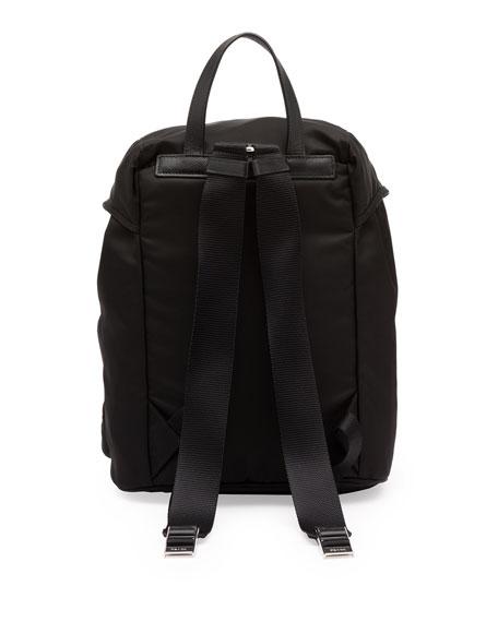 Vela Large Zip-Front Backpack, Black (Nero)