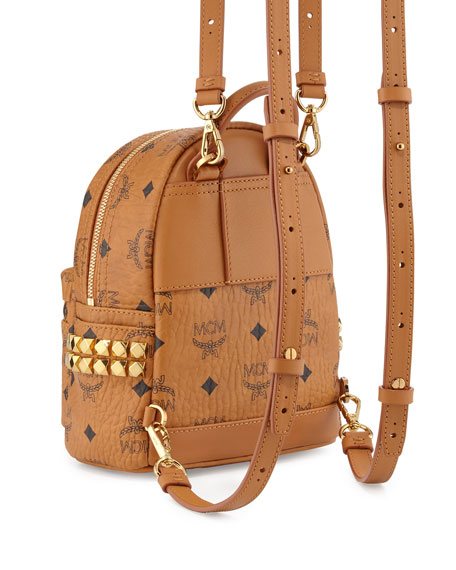 Stark X-Mini Side Stud Backpack, Cognac