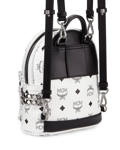 MCM Stark Side Stud X-Mini Backpack (White) Backpack Bags xFSda8
