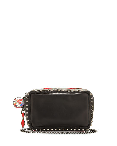 Christian Louboutin Piloutin Studded Wristlet Clutch Bag, Black