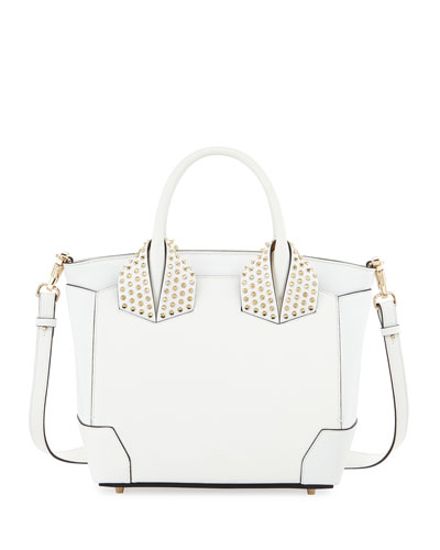 Eloise Large Leather Tote Bag, White