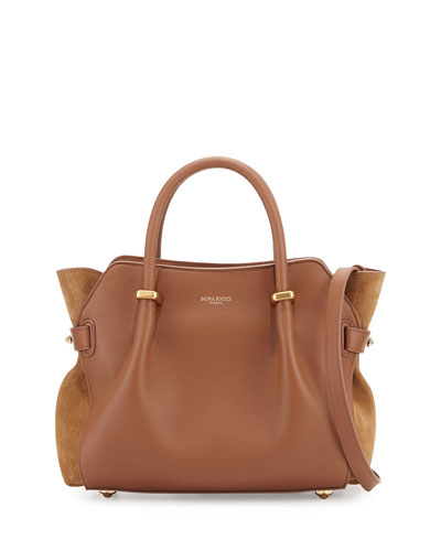 Marche Small Leather Tote Bag, Rawhide