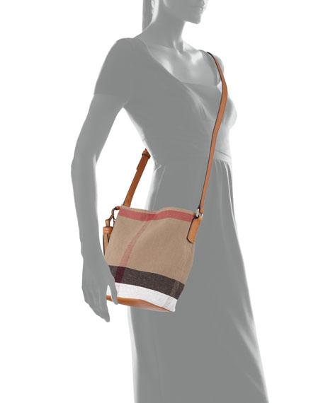 712444273475 Burberry Ashby Canvas Check Crossbody Bag