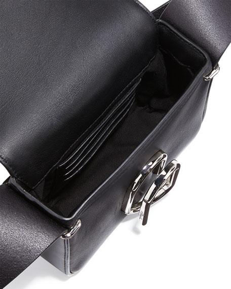 Alix Flap Mini Crossbody Bag, Black