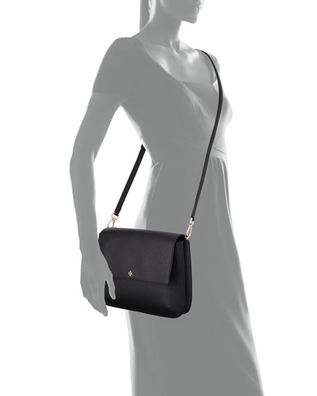 Robinson Leather Messenger Bag, Black