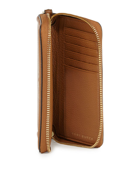 Thea Zip-Around Smartphone Wristlet, Bark