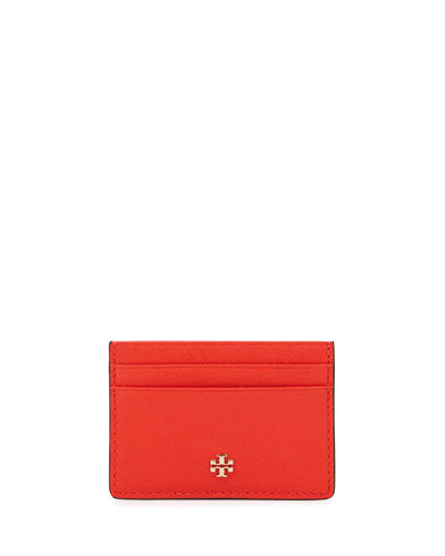 Robinson Slim Card Case, Poppy Red
