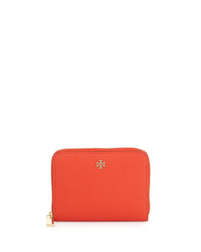 Robinson Zip Coin Case, Poppy Red