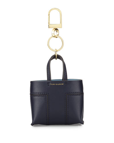 Mini Block-T Tote Key Fob, Tory Navy