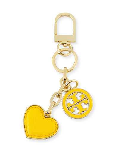 Logo & Heart Charm Key Fob, Sunbeam