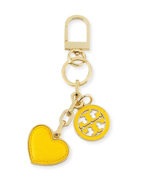 Logo & Heart Charm Key Fob/Bag Charm, Sunbeam