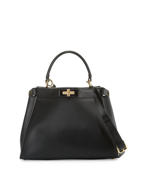 Fendi Peekaboo Medium Satchel Bag, Black