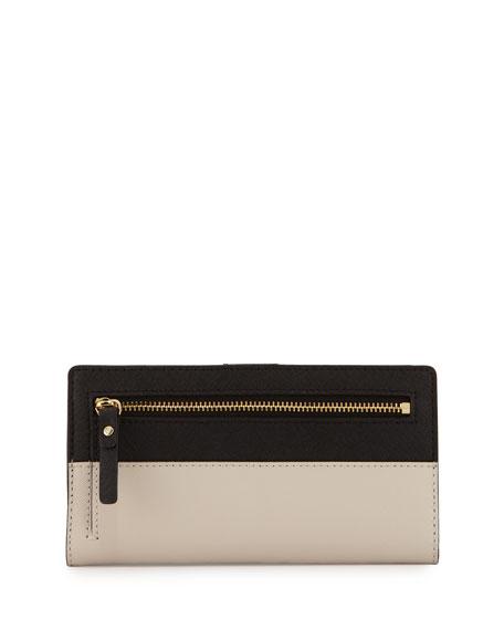 cedar street stacy wallet, black/pebble
