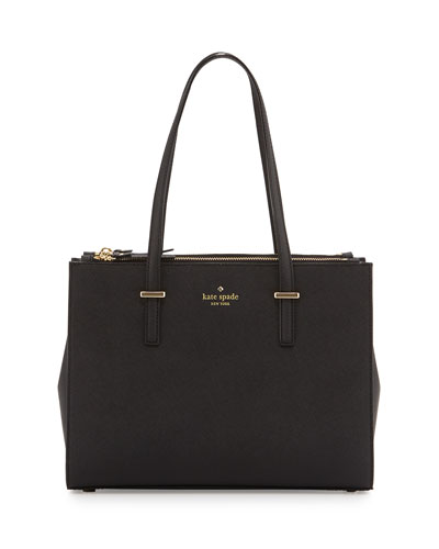 cedar street small jensen tote bag, black