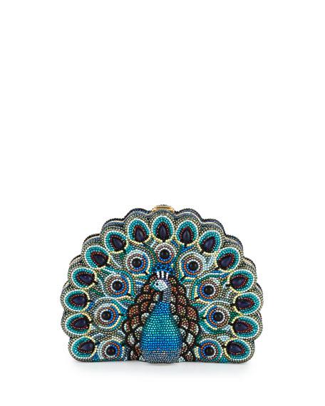 Judith Leiber Couture PEACOCK PEEK-A-BOO