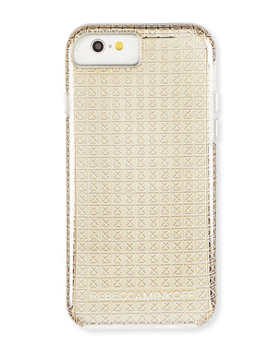 Stud-Print iPhone 6 Case, Gold