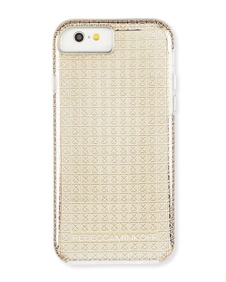 Rebecca Minkoff Stud-Print iPhone 6 Case, Gold
