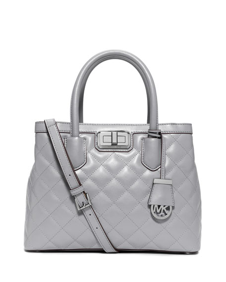 MICHAEL Michael Kors Hannah Medium Quilted Smooth Satchel