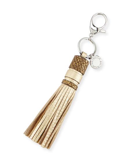 Rebecca Minkoff Leather Tassel Key Fob/Bag Charm, Gold