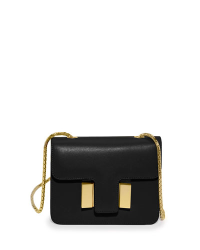 Sienna Small T-Buckle Crossbody Bag, Black