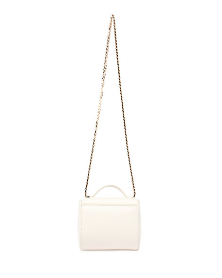 Pandora Box Mini Chain Shoulder Bag, Ivory