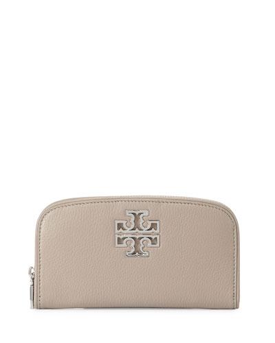 Britten Zip Continental Wallet, French Gray