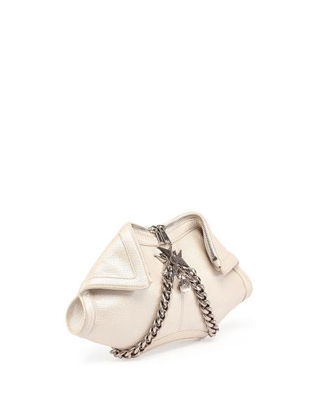 De-Manta Small Clutch Bag, Pearl