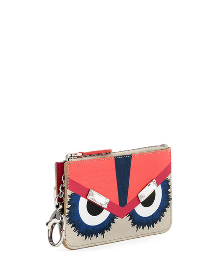 Monster Leather Key Ring Pouch, Multicolor