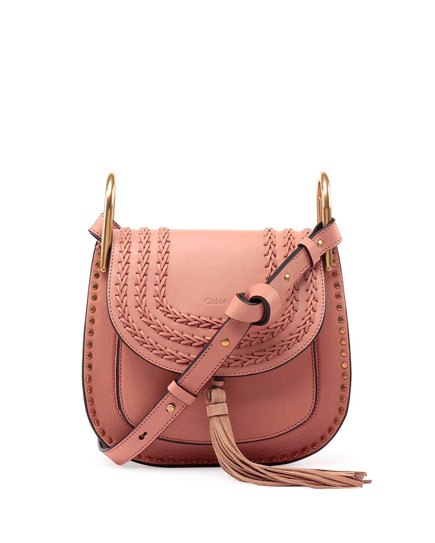7a2eee118f Hudson Tassel-Trim Leather Shoulder Bag, Rose