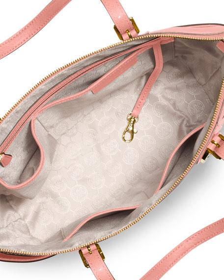 Jet Set Top-Zip Saffiano Tote Bag, Pale Pink