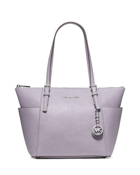 MICHAEL Michael Kors Jet Set Top-Zip Saffiano Tote Bag, Lilac
