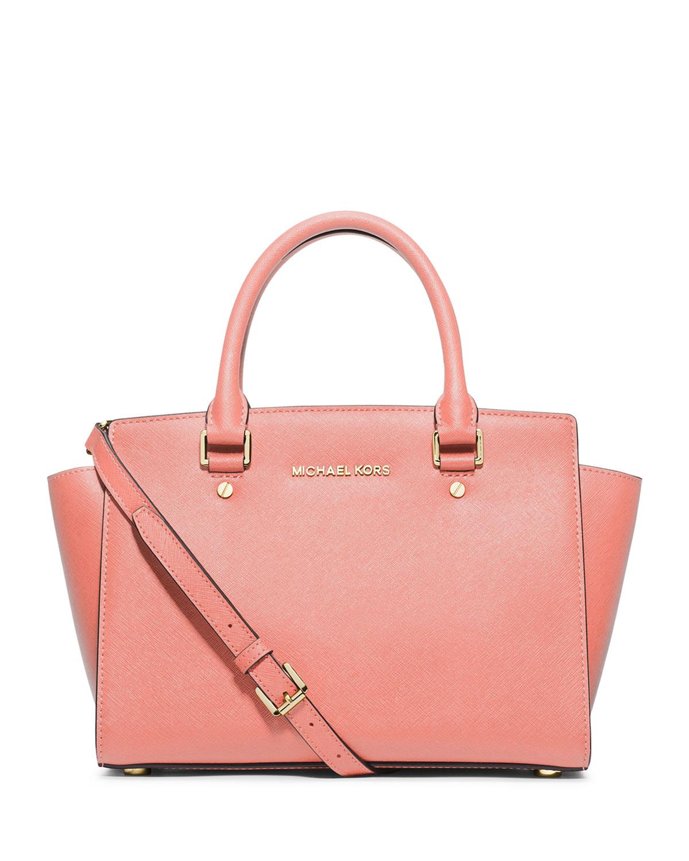32294e899ef8 MICHAEL Michael Kors Selma Medium Top-Zip Satchel Bag