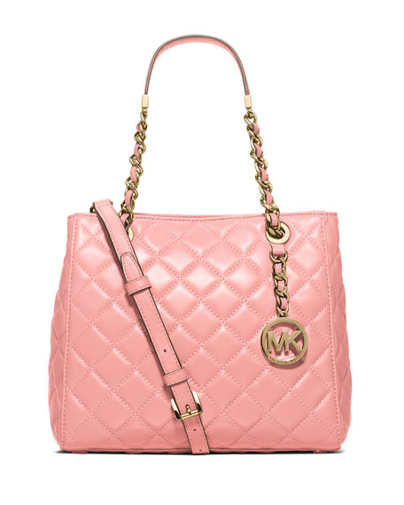MICHAEL Michael Kors Susannah Small Quilted Tote Bag,