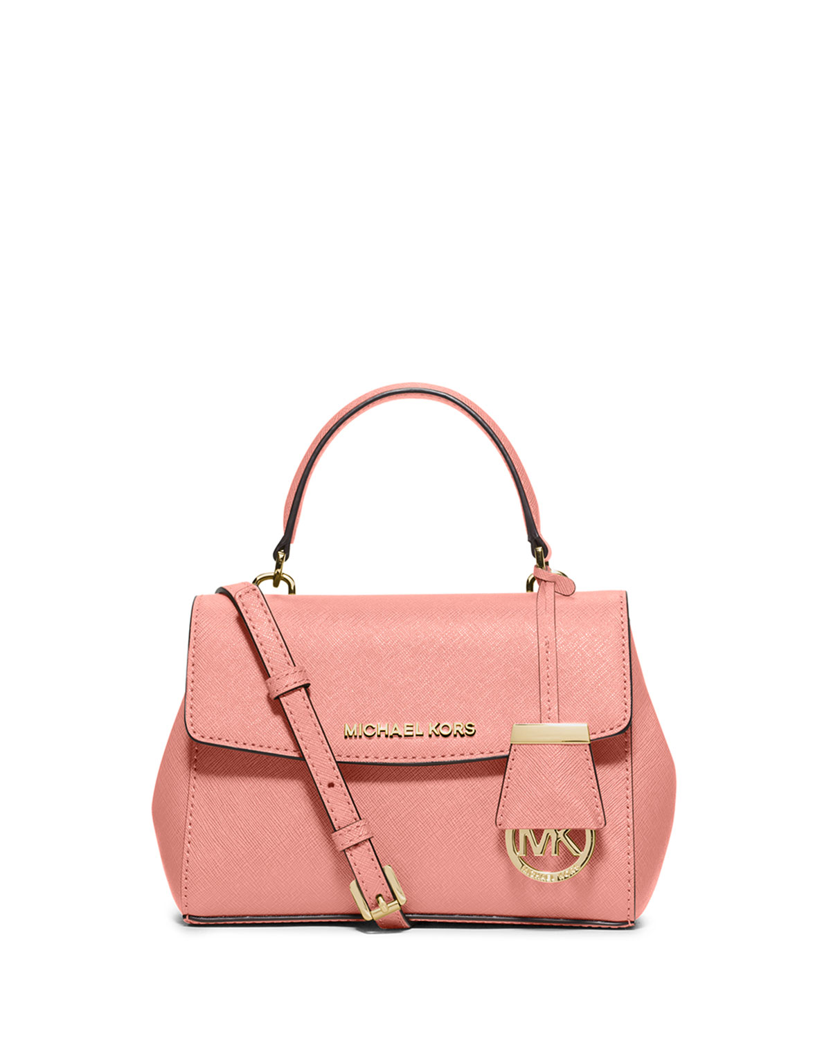 2e8a8ff28aac MICHAEL Michael Kors Ava Extra-Small Saffiano Leather Satchel Bag, Pale Pink