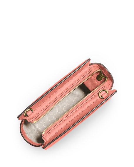 Selma Mini Saffiano Messenger Bag, Pale Pink