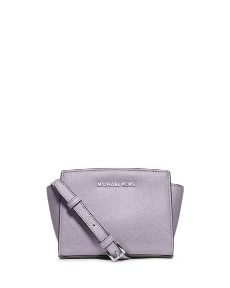 Selma Mini Saffiano Messenger Bag, Lilac