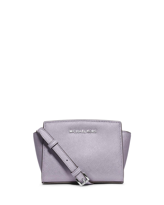 0af84697e7ef MICHAEL Michael Kors Selma Mini Saffiano Messenger Bag, Lilac ...
